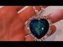 Сердце океана, кулон, Swarovski, сваровски, ожерелье сердце океана, ручная работа, титаник